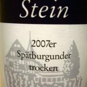 Spatburgunder trocken, Stein