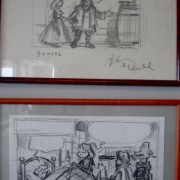 Original Karl cartoons at Chat Sauvage