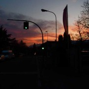 Outside Rottensteiner, Sunset over Bolzano